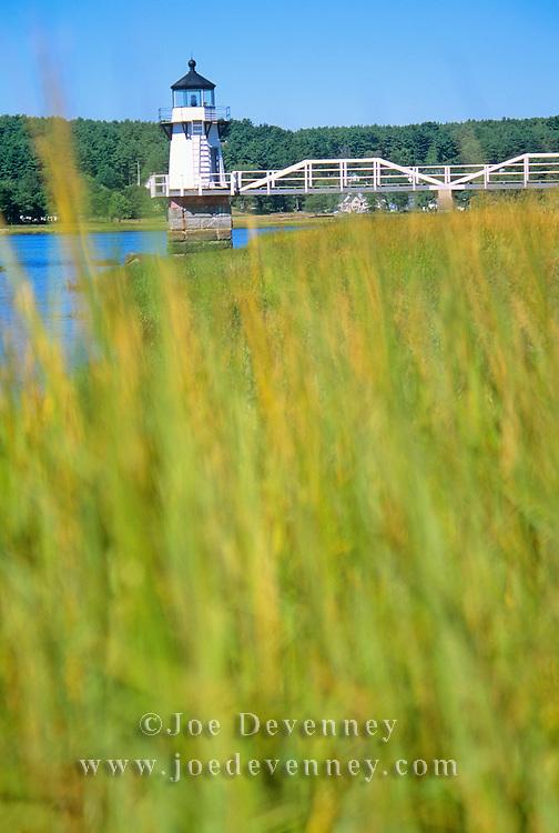 Lighthouse on the Kennebec River. Bath, Maine