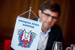 Matjaz Rakovec, president of HZS at assembly of Ice Hockey Federation of Slovenia on June 24, 2014 in Austria Trend Hotel, Ljubljana, Slovenia. Photo By Vid Ponikvar / Sportida