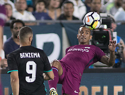 July 26, 2017 - Los Angeles, California, U.S - Danilo #3 of Manchester City during their International Champions Cup game with Real Madrid at the Los Angeles Memorial Coliseum in Los Angeles, California on Wednesday July 26, 2017. Manchester City defeats Real Madrid, 4-1. (Credit Image: © Prensa Internacional via ZUMA Wire)