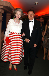 RAINE, COUNTESS SPENCER and COUNT CARLO COLOMBOTTI  at a party to celebrate 'Made in Italy at Harrods' - a celebration of Italian fashion food and wine, design and interiors, art and photography, cinema and music, beauty and glamour.  The party was held in the Georgian Restaurant at Harrods, Knightsbridge, London on 9th September 2004.<br /><br />PICTURES LICENCED UNTIL 9/3/2004 FOR USE TO PROMOTE THE 'MADE IN ITALY' EVENT/S ONLY.