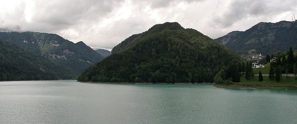 Lake of Sauris in Friuli