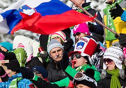 Supporters of Slovenia during FIS Snowboard World Cup Rogla 2013 in Parallel Giant slalom, on February 8, 2013 in Rogla, Slovenia. (Photo By Vid Ponikvar / Sportida.com)