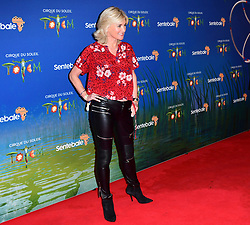 Anthea Turner attending the premiere of Cirque du Soleil's Totem, in support of the Sentebale charity, held at the Royal Albert Hall, London.
