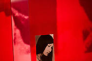 Portrait picture of a vietnamese woman during an exhibit at the Women's Museum in Hanoi, Vietnam, Asia