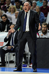 15.04.2015, Palacio de los Deportes stadium, Madrid, ESP, Euroleague Basketball, Real Madrid vs Anadolu Efes Istanbul, Playoffs, im Bild Real Madrid´s coach Pablo Laso // during the Turkish Airlines Euroleague Basketball 1st final match between Real Madrid vand Anadolu Efes Istanbul t the Palacio de los Deportes stadium in Madrid, Spain on 2015/04/15. EXPA Pictures © 2015, PhotoCredit: EXPA/ Alterphotos/ Luis Fernandez<br /> <br /> *****ATTENTION - OUT of ESP, SUI*****