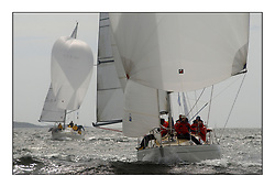 Yachting- The first days inshore racing  of the Bell Lawrie Scottish series 2002 at Tarbert Loch Fyne. Near perfect conditions saw over two hundred yachts compete. <br /><br />Pepsi IRL633 and The White Tub K4294, Sigma 33<br />Pics Marc Turner / PFM