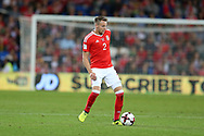 Chris Gunter of Wales in action. Wales v Austria , FIFA World Cup qualifier , European group D match at the Cardiff city Stadium in Cardiff , South Wales on Saturday 2nd September 2017. pic by Andrew Orchard, Andrew Orchard sports photography