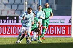 """Foto Filippo Rubin<br /> 21/11/2020 Ferrara (Italia)<br /> Sport Calcio<br /> Spal - Pescara - Campionato di calcio Serie B 2020/2021 - Stadio """"Paolo Mazza""""<br /> Nella foto: VALOTI MATTIA (SPAL)<br /> <br /> Photo Filippo Rubin<br /> November 21, 2020 Ferrara (Italy)<br /> Sport Soccer<br /> Spal vs Pescara - Italian Football Championship League B 2020/2021 - """"Paolo Mazza"""" Stadium <br /> In the pic: VALOTI MATTIA (SPAL)"""