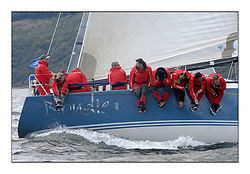 Sailing - The 2007 Bell Lawrie Scottish Series hosted by the Clyde Cruising Club, Tarbert, Loch Fyne..The final days racing had cold steady Northerly breeze to decide the overall placings...Sail Scotland and Class two winner Blondie IRL 3008.