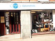 Optometrists an example of a specialist high order shop, Woodbridge, Suffolk, England