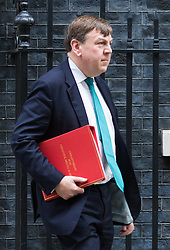 Downing Street, London, January 26th 2016. Culture Secretary John Whittingdale leaves 10 Downing Street following the weekly Cabinet meeting. ///FOR LICENCING CONTACT: paul@pauldaveycreative.co.uk TEL:+44 (0) 7966 016 296 or +44 (0) 20 8969 6875. ©2015 Paul R Davey. All rights reserved.