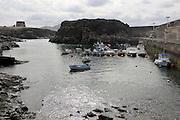 Fishing harbour at El Cotillo village, Fuerteventura, Canary Islands, Spain