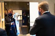 LOENEN, 26-11-2020 , Nationale Veteranenbegraafplaats <br /> <br /> Koning Willem Alexander tijdens de opening van de Nationale Veteranenbegraafplaats Loenen. Bij de nieuwe begraafplaats is ook een herdenkings- en educatiecentrum ingericht waar bezoekers worden geïnformeerd over de inzet van Nederlandse burgers en militairen tijdens de Tweede Wereldoorlog en internationale vredesmissies.