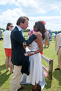 JOEL CADBURY; GINA MILLER, The Dalwhinnie Crook  charity Polo match  at Longdole  Polo Club, Birdlip  hosted by the Halcyon Gallery. . 12 June 2010. -DO NOT ARCHIVE-© Copyright Photograph by Dafydd Jones. 248 Clapham Rd. London SW9 0PZ. Tel 0207 820 0771. www.dafjones.com.