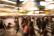 large crowd walking on the zebra crossing in Shibuya
