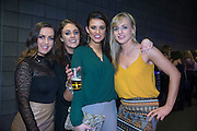 NO FEE PICTURES<br /> 31/12/15 Ros Hendron, Ciara Brennan, Katie O'Meara and Stacey O'Brien, Tipperary, enjoying the NYF 3Arena Celebrations, part of the New Years Festival in Dublin. nyf.com running from 30th Dec to 1st Jan in Dublin. Picture: Arthur Carron