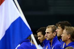 13-09-2014 NED: Davis Cup Nederland - Kroatie, Amsterdam<br /> Nederland verliest de dubbel en staat op de tweede dag met 2-1 achter / Thiemo de Bakker