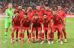 Turkey team during Euro 2020 group H qualifying soccer match between Turkey and France at the Konya City Stadium in Konya, Turkey, June 8, 2019. Photo by Abdurrahman Antakyali/Depo Photos/ABACAPRESS.COM