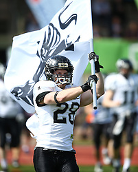 02.04.2016, Eggenberg Stadion, Graz, AUT, AFL, Projekt Spielberg Graz Giants vs Prague Black Panthers, im Bild Jiri Hamal (Prague Panthers, DB, #28) // during the Austrian Football League game between Projekt Spielberg Graz Giants vs Prague Black Panthers at the Eggenberg Stadium, Graz, Austria on 2016/04/02. EXPA Pictures © 2016, PhotoCredit: EXPA/ Thomas Haumer