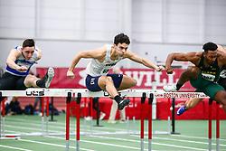 mens 60 meter hurdles prelim 3, Syracuse<br /> Boston University Scarlet and White<br /> Indoor Track & Field, Bruce LeHane