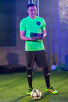 Goalkeeper Kaylor Navas during the presentation of the new Adidas shoes ACE 16 at the 1v1 tournament to find the boss of Madrid at the Museo del Ferrocarril in Madrid, March 09, 2016. (ALTERPHOTOS/BorjaB.Hojas)