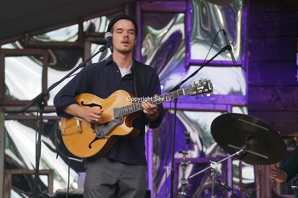 London, England, UK. 16th July 2017. Oscar Jerome performer at the Citadel Festival at Victoria Park, London, UK.