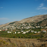 General view of the border town of Wadi Khaled in northern Lebanon..