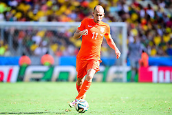 29.06.2014, Castelao, Fortaleza, BRA, FIFA WM, Niederlande vs Mexico, Achtelfinale, im Bild Arjen Robben (Niederlande) // during last sixteen match between Netherlands and Mexico of the FIFA Worldcup Brazil 2014 at the Castelao in Fortaleza, Brazil on 2014/06/29. EXPA Pictures © 2014, PhotoCredit: EXPA/ fotogloria/ Best Photo Agency<br /> <br /> *****ATTENTION - for AUT, FRA, POL, SLO, CRO, SRB, BIH, MAZ only*****