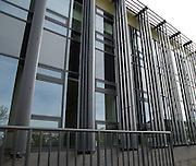 Modern architecture at Tremough campus, University of Falmouth, Penryn, Cornwall, England, UK