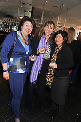 Left to right, ISOBEL, COUNTESS OF STRATHMORE, the DUCHESS OF NORFOLK and BLANCA LEIGH at a ladies lunch in support of Maggie's Barts hosted by Judy Naake, Clara Weatherall and Caroline Collins at Le Cafe Anglais, 8 Porchester Gardens, London W2 on 19th March 2013.