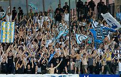 Fans of Zurich at Third Round of Champions League qualifications football match between NK Maribor and FC Zurich,  on August 05, 2009, in Ljudski vrt , Maribor, Slovenia. Zurich won 3:0 and qualified to next Round. (Photo by Vid Ponikvar / Sportida)