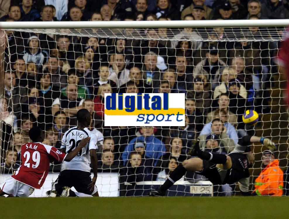 Photo: Olly Greenwood.<br />Tottenham Hotspur v Charlton Athletic. The Barclays Premiership. 09/12/2006. Charlton score an own goal through Spurs Michael Dawson