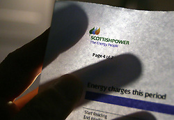 File photo dated 22/10/13 of the logo of power company ScottishPower, which has revealed that UK generation and supply earnings have sunk by 76\% after losing around 100,000 customers in the first half of the year.