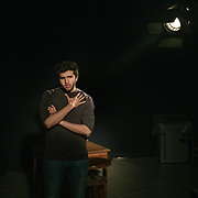 """Shehryar Zahid, a film production student, pauses during a class on lighting at National College of Arts. """"I try to put my emotions into my films, my heart and soul,"""" says Zahid. """"I want the audience to feel that they are a part of it."""""""