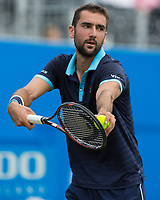 Tennis - 2017 Aegon Championships [Queen's Club Championship] - Day Four, Thursday <br /> <br /> Men's Singles: Round of 16 - Marin Cilic (CRO) Vs Stefan Kozlov (USA)<br /> <br /> Marin Cilic (CRO) serving at Queens Club<br /> <br /> COLORSPORT/DANIEL BEARHAM