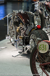 """Jordy Tanamal built this customized 103"""" Harley-Davidson Breakout at his shop in Santpoort-Zuid, Netherlands and displayed it in the AMD World Championship of Custom Bike Building show in the custom dedicated Hall 10 at the Intermot Motorcycle Trade Fair. Cologne, Germany. Saturday October 8, 2016. Photography ©2016 Michael Lichter."""