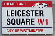 Leicester Square, a hugely popular area for tourism in the West End, London.