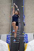 Tori Hoggard places sixth in the elite men's competition at 14-5 1/4 (4.40m) during the National Pole Vault Summit, Friday, Jan. 17, 2020, in Reno, Nev.