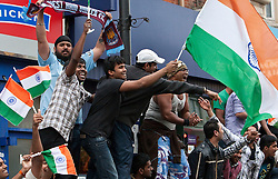 © under license to London News Pictures. 2.4.11.The Indian Community of East Ham celebrate India winning the Cricket World Cup. Picture credit should read Andrew Baker/LNP