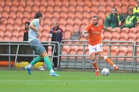 Blackpool's Nick Anderton under pressure from Blackburn Rovers' Dominic Samuel<br /> <br /> Photographer Kevin Barnes/CameraSport<br /> <br /> Football Pre-Season Friendly - Blackpool v Blackburn Rovers - Saturday July 27th 2019 - Bloomfield Road - Blackpool<br /> <br /> World Copyright © 2019 CameraSport. All rights reserved. 43 Linden Ave. Countesthorpe. Leicester. England. LE8 5PG - Tel: +44 (0) 116 277 4147 - admin@camerasport.com - www.camerasport.com