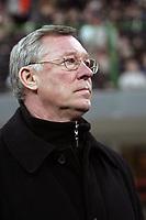 Fotball<br /> Champions League 2004/05<br /> AC Milan v Manchester United<br /> 8. mars 2005<br /> Foto: Digitalsport<br /> NORWAY ONLY<br /> Sir Alex Ferguson
