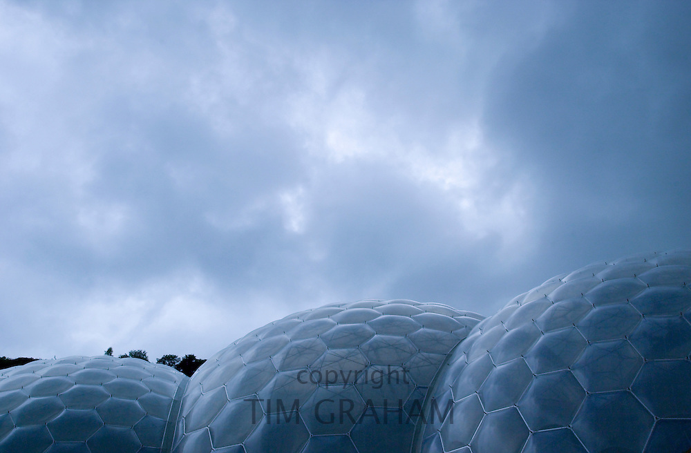 Domes of the Eden Project in Cornwall, United Kingdom
