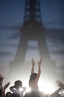 Eiffel Tower 120th birthday, July 14, 2009, Paris...photograph by Owen Franken.. - Photograph by Owen Franken