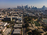 Aerial panographs of Downtown Los Angeles made with a drone camera.<br /> 11/24/2020 Los Angeles, CA USA<br /> (Photo by Ted Soqui/SIPA USA)