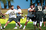 January 30 2016: Seattle Seahawks Russell Wilson during the final Pro Bowl practice at Turtle Bay Resort on Oahu, HI. (Photo by Aric Becker/Icon Sportswire)