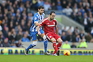 Middlesbrough FC striker Enrique Garcia during the Sky Bet Championship match between Brighton and Hove Albion and Middlesbrough at the American Express Community Stadium, Brighton and Hove, England on 19 December 2015.