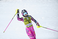 March 16, 2019 - El Tarter, Andorra - Frida Hansdotter of Sweden Ski Team who retires after today's competition, greeting his fans after her last race during Ladies' Giant Slalom Audi FIS Ski World Cup race, on March 16, 2019 in El Tarter, Andorra. (Credit Image: © Joan Cros/NurPhoto via ZUMA Press)
