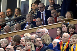 The Duke of Cambridge (centre) watches from the stands during the Autumn International at the Principality Stadium, Cardiff.