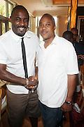 24 June 2010- Miami Beach, Florida- Idris Elba and Bernard Bronner at the The 2010 American Black Film Festival Founder's Brunch held at Emeril's on June 24, 2010. Photo Credit: Terrence Jennings/Sipa