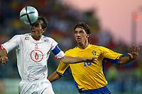 Faro 27/6/2004 Euro2004 <br />Svezia - Olanda 4-5 after penalties (0-0) <br />Philip Cocu of Netherlands and Zlatan Ibrahimovic of Netherlands<br />Photo Andrea Staccioli Graffiti
